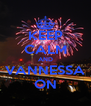 KEEP CALM AND VANNESSA ON - Personalised Poster A4 size