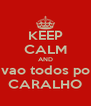 KEEP CALM AND vao todos po CARALHO - Personalised Poster A4 size
