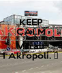 KEEP CALM AND Varau I Akropoli. ♥ - Personalised Poster A4 size