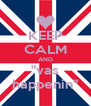 """KEEP CALM AND """"vas happenin"""" - Personalised Poster A4 size"""