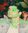 KEEP CALM AND VAS SAPNIN ON - Personalised Poster A4 size