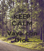 KEEP CALM AND Vaya con Dios - Personalised Poster A4 size