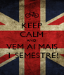 KEEP CALM AND VEM AI MAIS  1 SEMESTRE! - Personalised Poster A4 size
