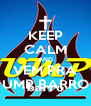KEEP CALM AND VEM PRA UMP BARRO - Personalised Poster A4 size