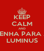 KEEP CALM AND VENHA PARA A LUMINUS - Personalised Poster A4 size