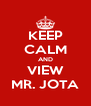 KEEP CALM AND VIEW MR. JOTA - Personalised Poster A4 size