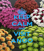 KEEP CALM AND VISIT ANGO - Personalised Poster A4 size