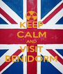 KEEP CALM AND VISIT BENIDORM - Personalised Poster A4 size
