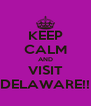 KEEP CALM AND VISIT DELAWARE!! - Personalised Poster A4 size