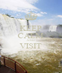 KEEP CALM AND VISIT FALLS - Personalised Poster A4 size