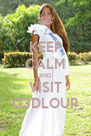 KEEP CALM AND VISIT G3DLOUP - Personalised Poster A4 size