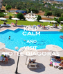 KEEP CALM AND VISIT  HOTEL DIAGORAS - Personalised Poster A4 size