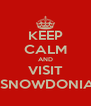 KEEP CALM AND VISIT  SNOWDONIA - Personalised Poster A4 size