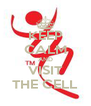KEEP CALM AND VISIT THE CELL - Personalised Poster A4 size