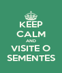 KEEP CALM AND VISITE O SEMENTES - Personalised Poster A4 size