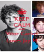 KEEP CALM AND Vitor Carlos Loves Jay M - Personalised Poster A4 size