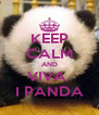 KEEP CALM AND VIVA  I PANDA - Personalised Poster A4 size