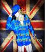 KEEP CALM AND viva la vida  Viniciusoliveira - Personalised Poster A4 size