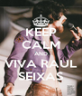 KEEP CALM AND VIVA RAUL SEIXAS - Personalised Poster A4 size
