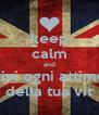 keep calm and vivi ogni attimo della tua vit - Personalised Poster A4 size