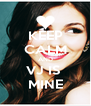 KEEP CALM AND VJ IS  MINE - Personalised Poster A4 size
