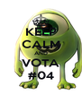 KEEP CALM AND VOTA #04 - Personalised Poster A4 size