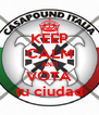 KEEP CALM AND VOTA tu ciudad - Personalised Poster A4 size