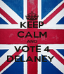 KEEP CALM AND VOTE 4 DELANEY  - Personalised Poster A4 size