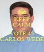 KEEP CALM AND VOTE 45 DR. CARLOS WEDEKIN - Personalised Poster A4 size