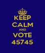 KEEP CALM AND VOTE 45745 - Personalised Poster A4 size