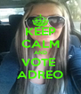 KEEP CALM AND VOTE  ADREO - Personalised Poster A4 size