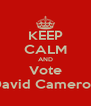 KEEP CALM AND Vote David Cameron - Personalised Poster A4 size