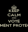 KEEP CALM AND VOTE DOCUMENT PROTECTORS - Personalised Poster A4 size