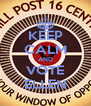 KEEP CALM AND VOTE ELLEN - Personalised Poster A4 size