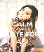 KEEP CALM AND VOTE FOR ARI - Personalised Poster A4 size