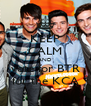 KEEP CALM AND vote for BTR for the KCA - Personalised Poster A4 size