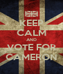 KEEP CALM AND VOTE FOR CAMERON - Personalised Poster A4 size