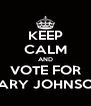 KEEP CALM AND VOTE FOR GARY JOHNSON - Personalised Poster A4 size