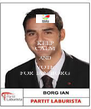 KEEP CALM AND VOTE FOR IAN BORG - Personalised Poster A4 size