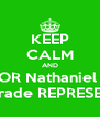KEEP CALM AND VOTE FOR Nathaniel Ramey  AS 8th Grade REPRESENTATIVE - Personalised Poster A4 size