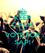 KEEP CALM AND VOTE FOR SAP! - Personalised Poster A4 size