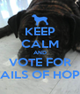 KEEP CALM AND VOTE FOR TAILS OF HOPE - Personalised Poster A4 size