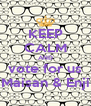 KEEP CALM AND vote for us Maisan & Enji - Personalised Poster A4 size