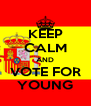 KEEP CALM AND VOTE FOR YOUNG - Personalised Poster A4 size