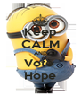 Keep CALM AND Vote  Hope - Personalised Poster A4 size