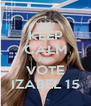 KEEP CALM AND VOTE IZABEL 15 - Personalised Poster A4 size