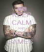 KEEP CALM AND  VOTE JAMES  - Personalised Poster A4 size
