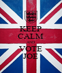 KEEP CALM AND VOTE JOE - Personalised Poster A4 size
