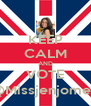 KEEP CALM AND VOTE @Missjenjomet  - Personalised Poster A4 size