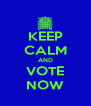 KEEP CALM AND VOTE NOW - Personalised Poster A4 size